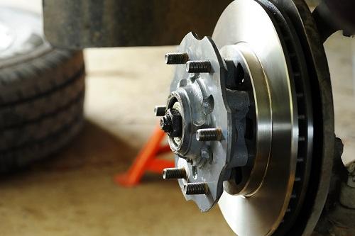 New disc brake and wheel hub.